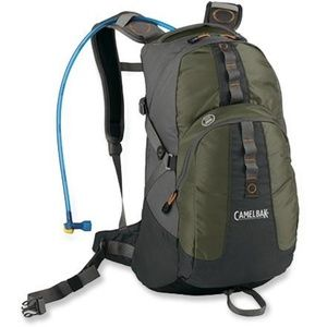 CAMELBAK Green Gray Hydration Backpack Pack Hiking